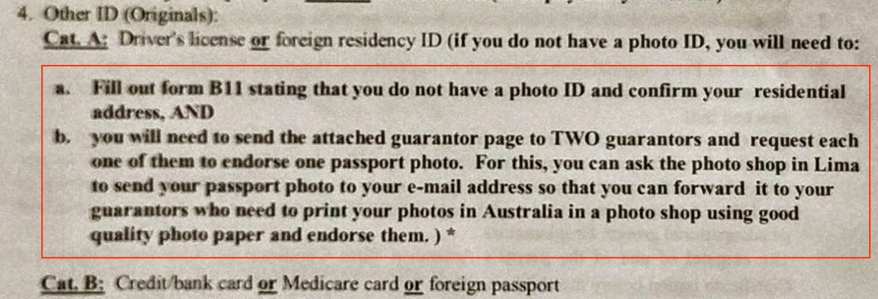 gaurantor sign proof of id for passport application