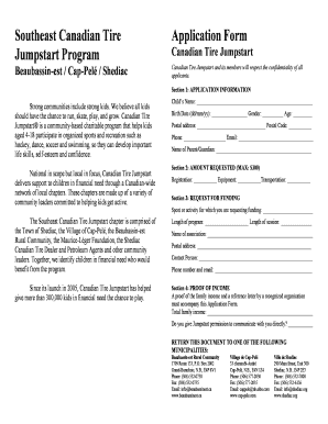 application form for canadian tire jumpstart