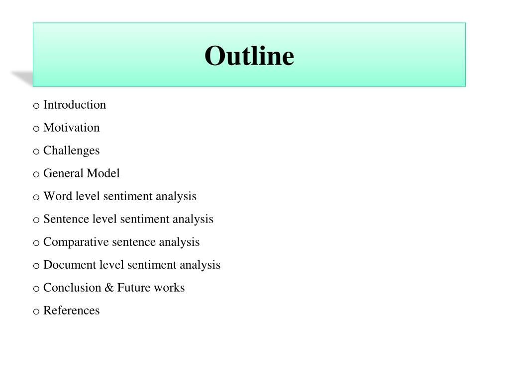 applications of sentiment analysis ppt