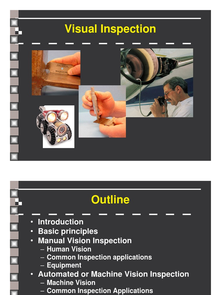 machine vision applications industrial inspection