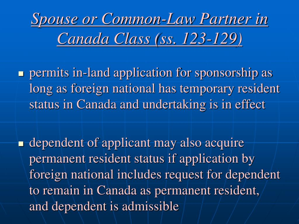 application for sponsoring spouse to canada