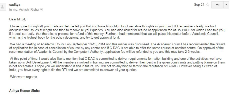 letter of intent with their concordia university admission application
