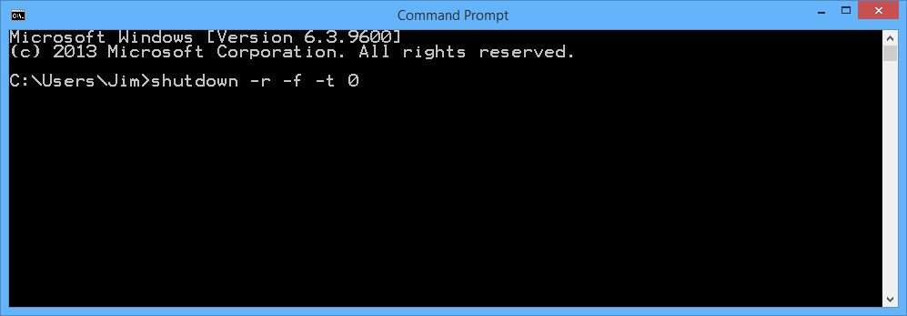 shutdown application from command line